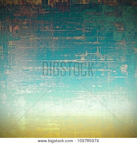 Old abstract grunge background for creative designed textures. With different color patterns: yellow (beige); blue; cyan; white