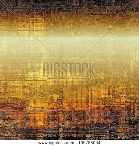 Designed grunge texture or retro background. With different color patterns: yellow (beige); brown; black; gray