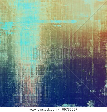 Old, grunge background texture. With different color patterns: yellow (beige); brown; blue; purple (violet)