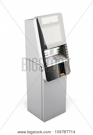 Atm Machine Isolated On White Background. 3D.
