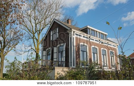 Dutch Historic House In A Small Village