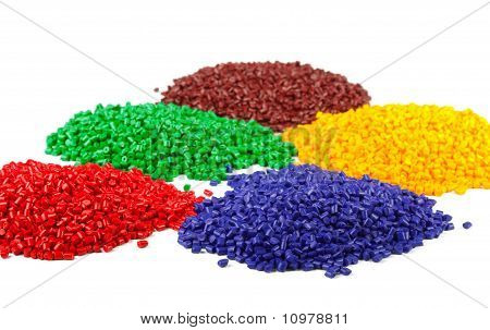 Colourful Plastic Granules