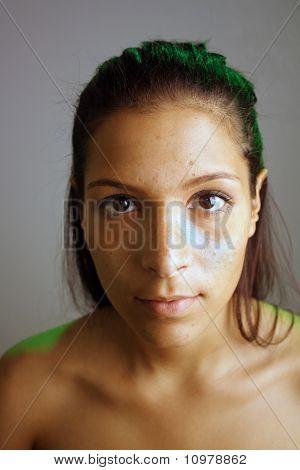 Beautiful Teen Latina, Unretouched Raw Headshot