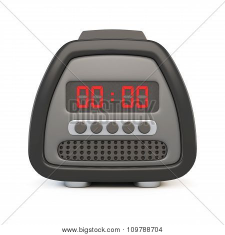 Front View Of A Black Electronic Watch. 3D.
