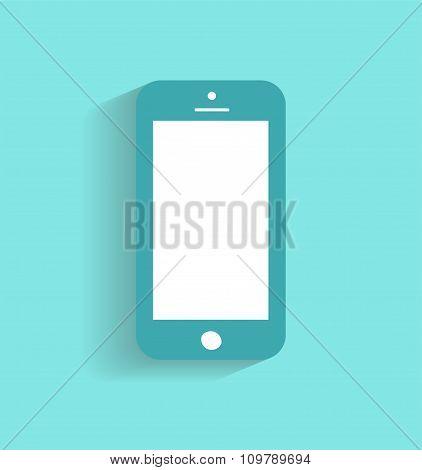 Smartphone icon vector illustration blue / Smartphone icon