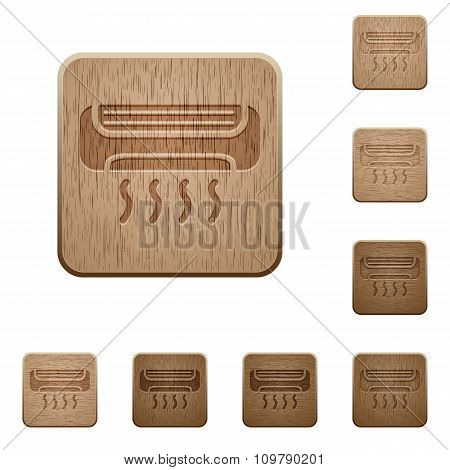 Air Conditioner Wooden Buttons