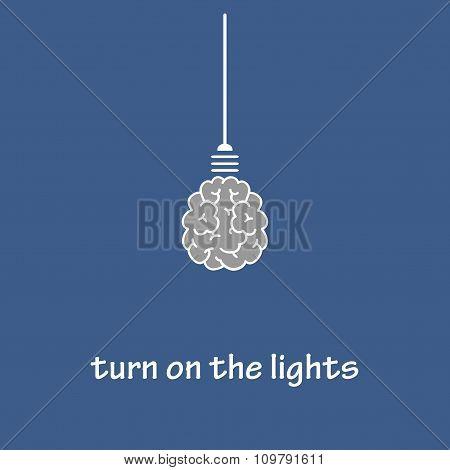 Turn on the lights.