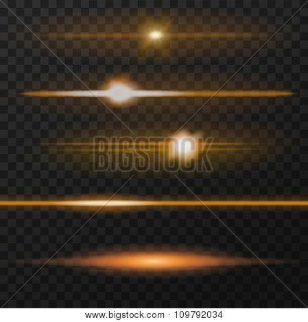 Orange lens flares
