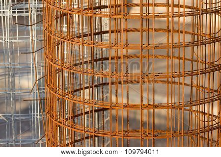 Roll of metal wire fence, can use for background