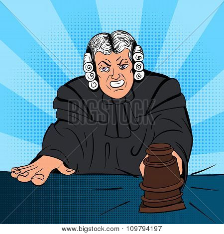 Angry judge comics character