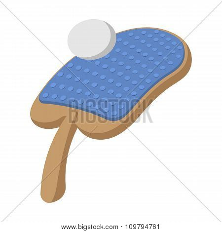 Table tennis racket and ball illustration