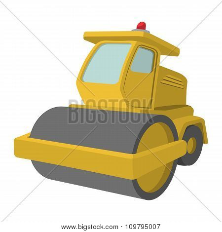 Yellow paver cartoon illustration