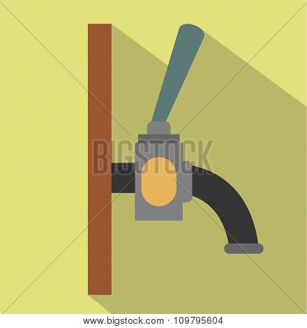 Beer faucet flat icon