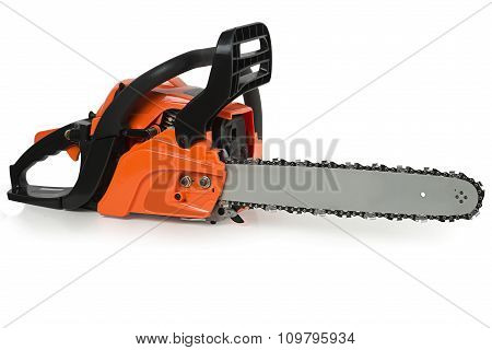 Chainsaw On A White Background