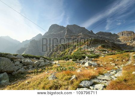 Trail in the valley in Tatras