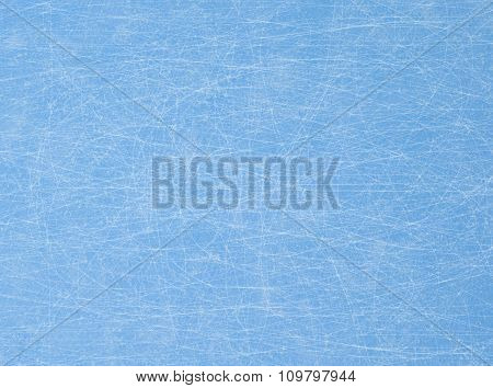 Traces From The Skates On Blue Ice