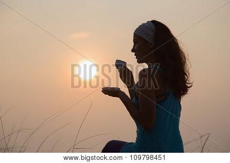 Girl And Coffee.