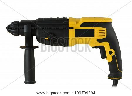 Rotary Hammer On White Background