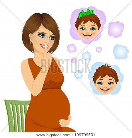 woman wondering about the gender of her future baby