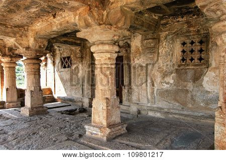 Detail of ruins of ancient city Vijayanagar at Hampi India a UNESCO World Heritage Site.