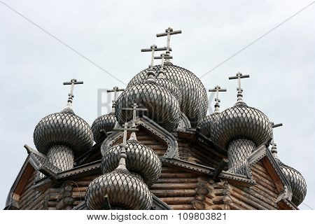 Domes of Russian Orthodox Church. Russia.
