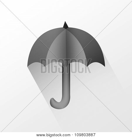 Black Umbrella Isolated.
