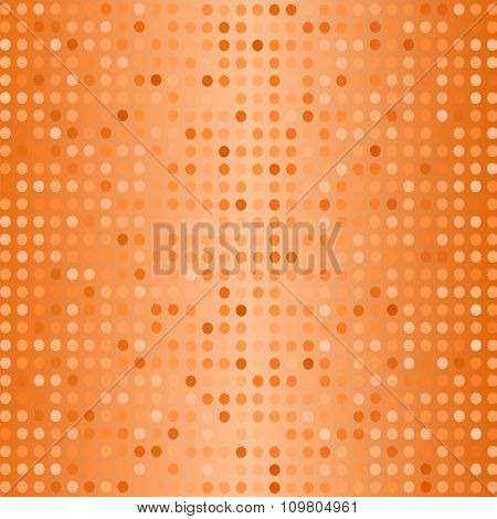Halftone Pattern. Dots on Orange Background.