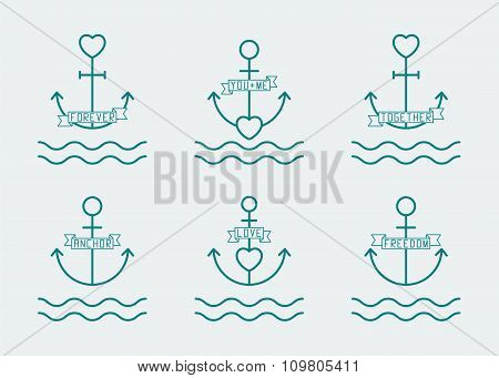 Anchor And Heart Set