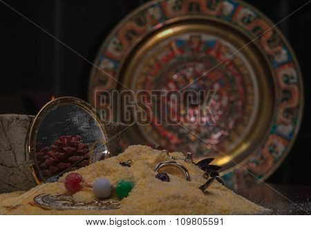Sand with Jewerly