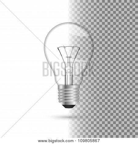Realistic light bulb