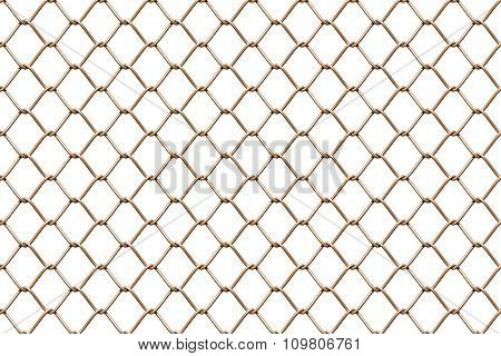 Seamless Mesh Netting On White Background.
