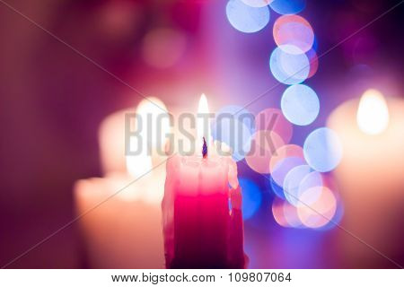 Candle And Bokeh
