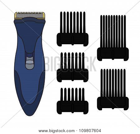 Hair clipper machine. Color