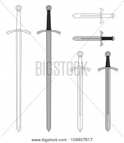 Medieval sword set
