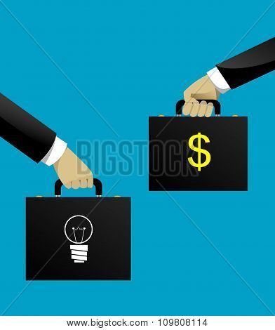 Business Startup Concept In Flat Style