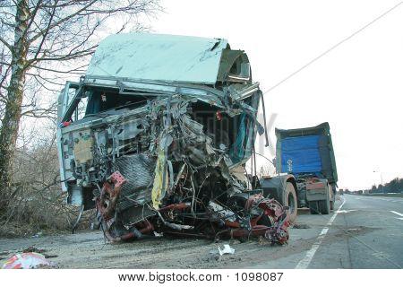 Accidente de camión duro