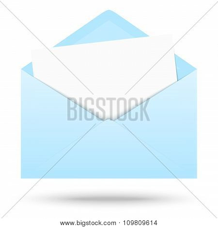 Colored Envelope With Empty Paper
