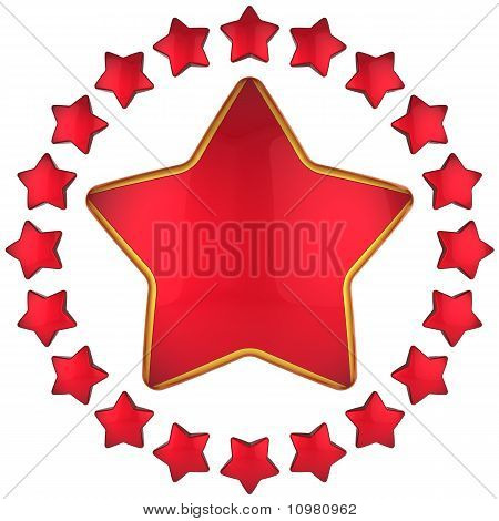 Red star award icon