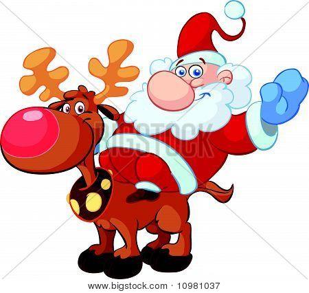 fun santa cartoons