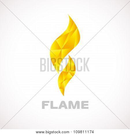 Flame logo facet