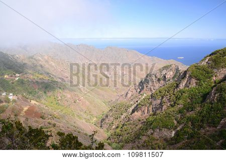 Majestic Anaga Mountains in the north of Tenerife island, Canary Islands, Spain