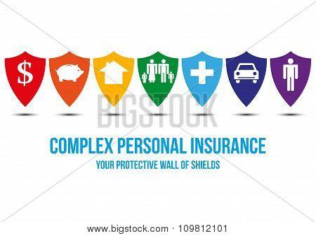Complex Personal Insurance Design Concept