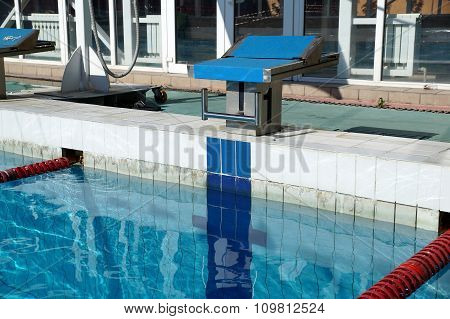 Curbstone For A Jump To The Pool