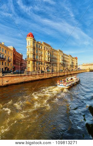 The Embankment Of Griboyedov Canal