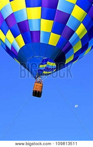 Hot Air Balloon Flight To The Moon