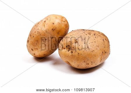 Potatoes Isolated On White.