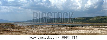 Savannah Panorama In The National Park Of Kenya