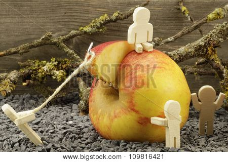 Symbolic representation of fruit harvest
