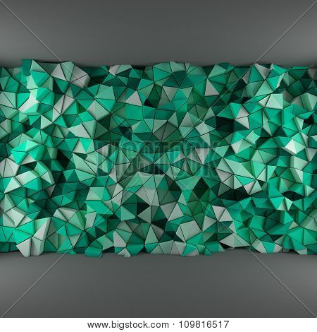 Turquoise triangles backdrop