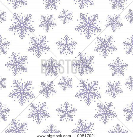 Abstract Seamless Pattern With Snowflakes